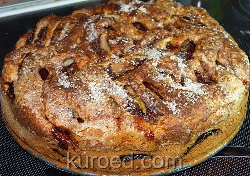 рецепт пирог со сливами на сметане